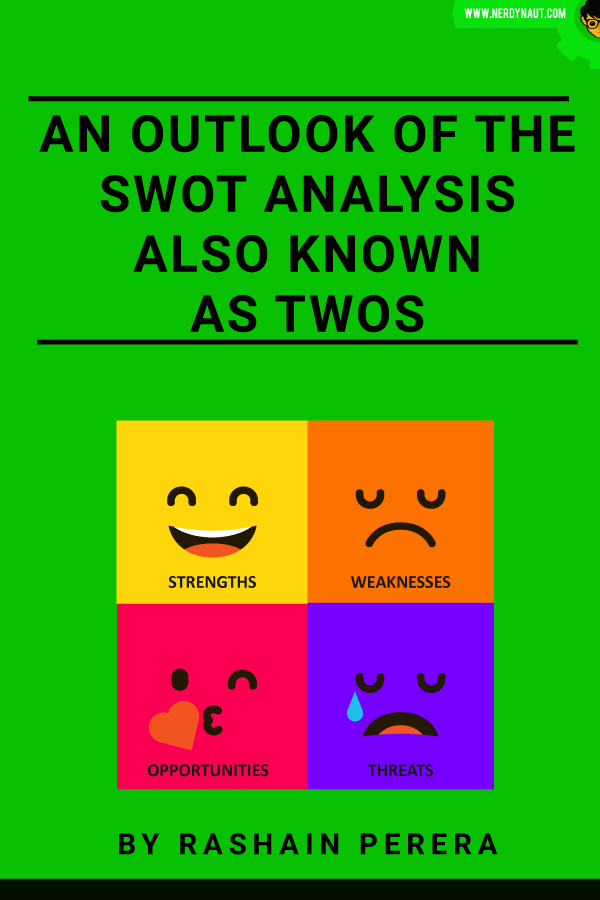 An outlook of the SWOT analysis also known as TWOS Book Front Cover
